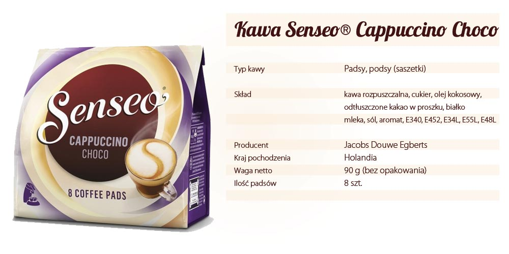 Senseo Cappuccino Choco 8 pads w CafePads.pl