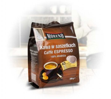 kawa, do senseo, moreno, philips, cafe, espresso, saszetki